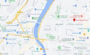 Plan d'accès Natacha Médina Centre Apogee Henon, Boulevard des Canuts, Lyon